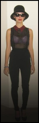 High Rollers leggings -waistlength Sheer Mafia top